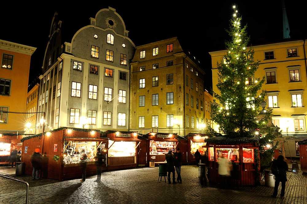 Traditionell julmarknad.