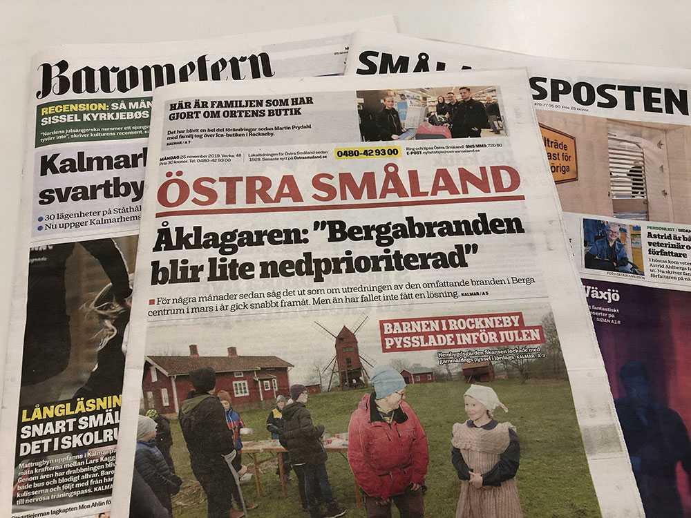 Lokaltidningsdöden är redan ett stort problem. Nyligen lade Gota media ner tidningarna Östra Småland och Nyheterna, med redaktioner i Kalmar och Oskarshamn.