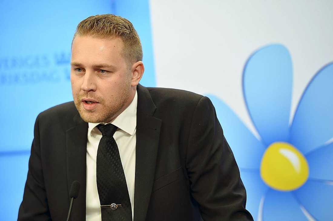 Vikarierande SD-ledaren Mattias Karlsson.