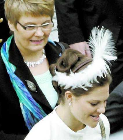 Maud Olofsson och Victoria.