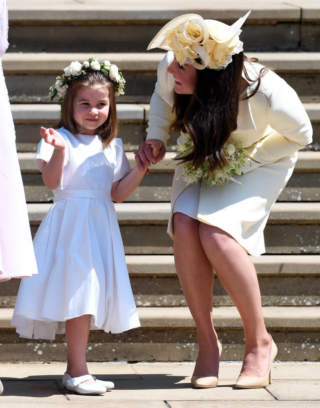 Kate med dottern prinsessan Charlotte.