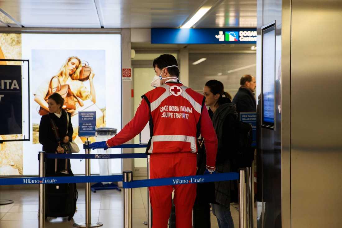 På flygplatsen i Milano kan det återigen bli liv och rörelse.