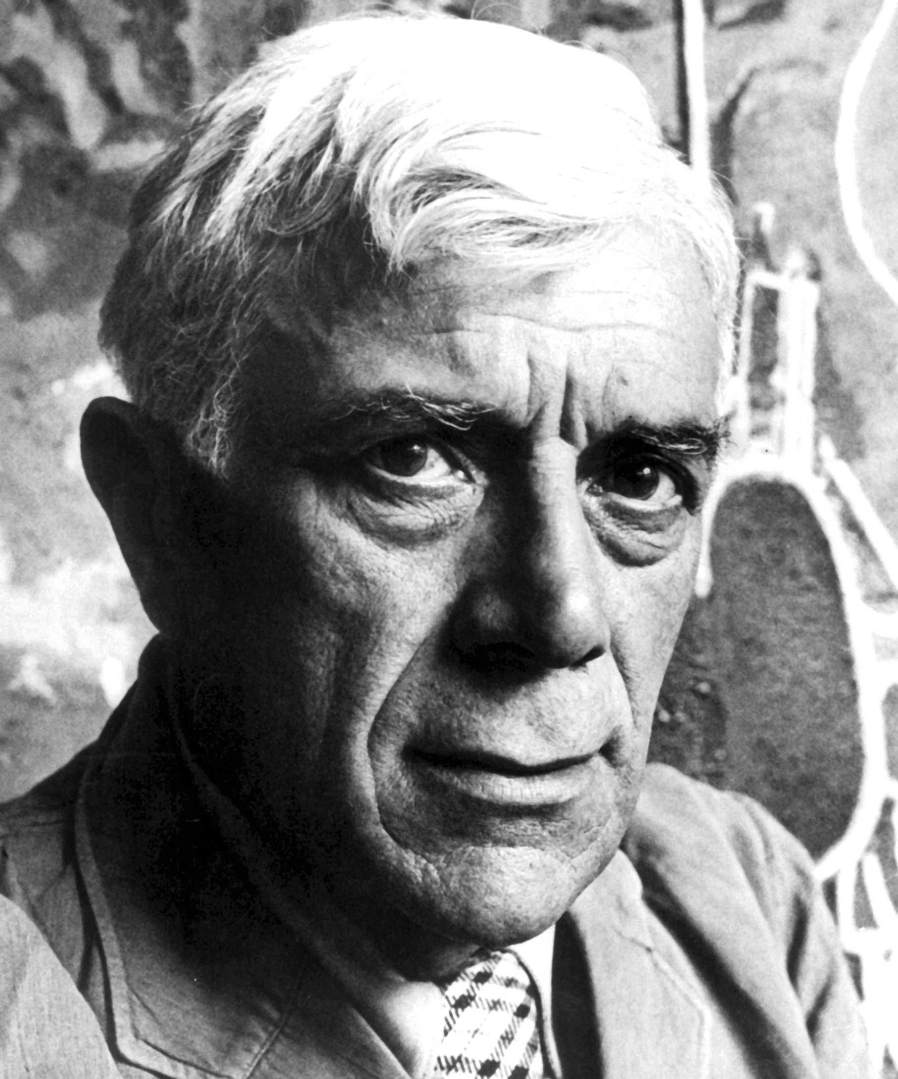 """Georges Braque, konstnär. Hans verk """"Den vita duken"""" saknas fortfarande."""