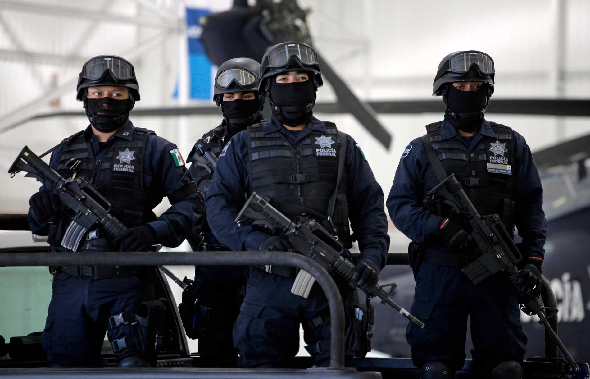 Federal mexikansk polis i delstaten Zacatecas. Arkivbild.