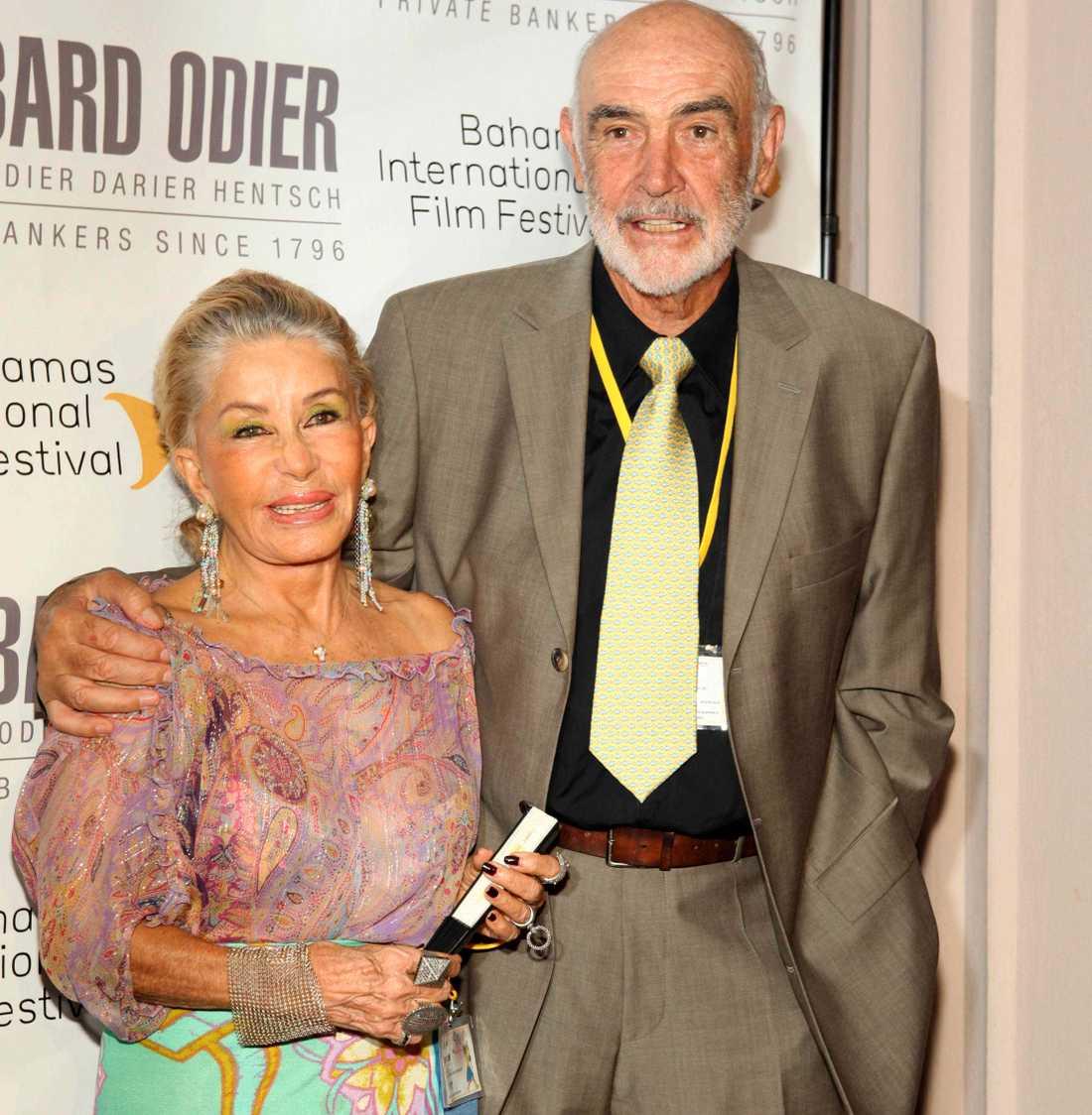 Micheline Roquebrune och Sean Connery 2009.