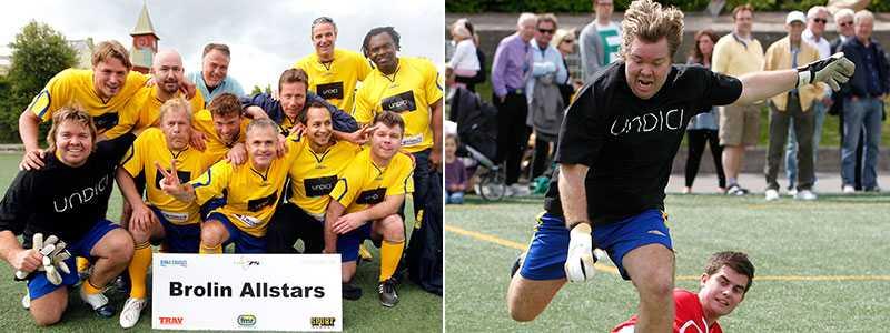 """Ny succé? Tomas Brolins lag """"Brolin Allstars"""" vann fotbollsturnéringen i samband med Elitloppet 2010. På torsdag är VM-hjälten tillbaka med ett lag."""