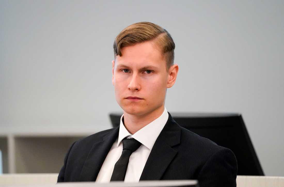 Philip Manshaus i Asker og Bærum tingrett på torsdagen den 7 maj.