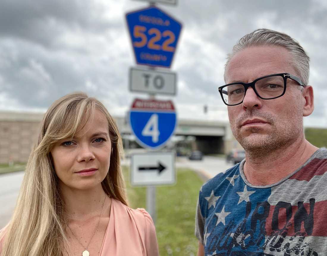 Aftonbladets reporter Emelie Svensson och fotograf Pontus Höök.