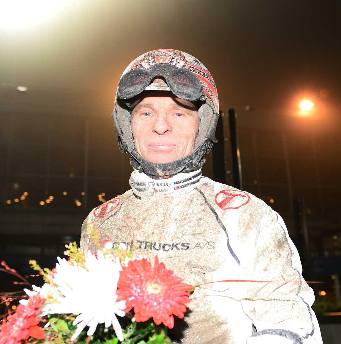 Flemming Jensen har högst segerprocent bland kuskarna som regelbundet kör på Åby. Han vinner också oftare på Åby än i Sverige i stort.