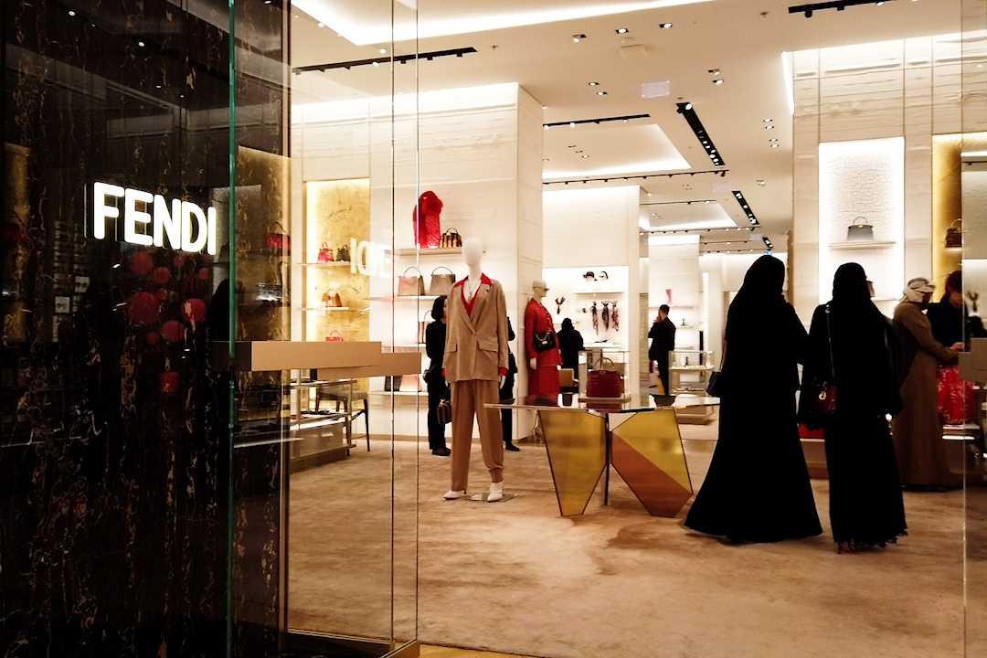 Det är gott om exklusiva butiker i Dubai.