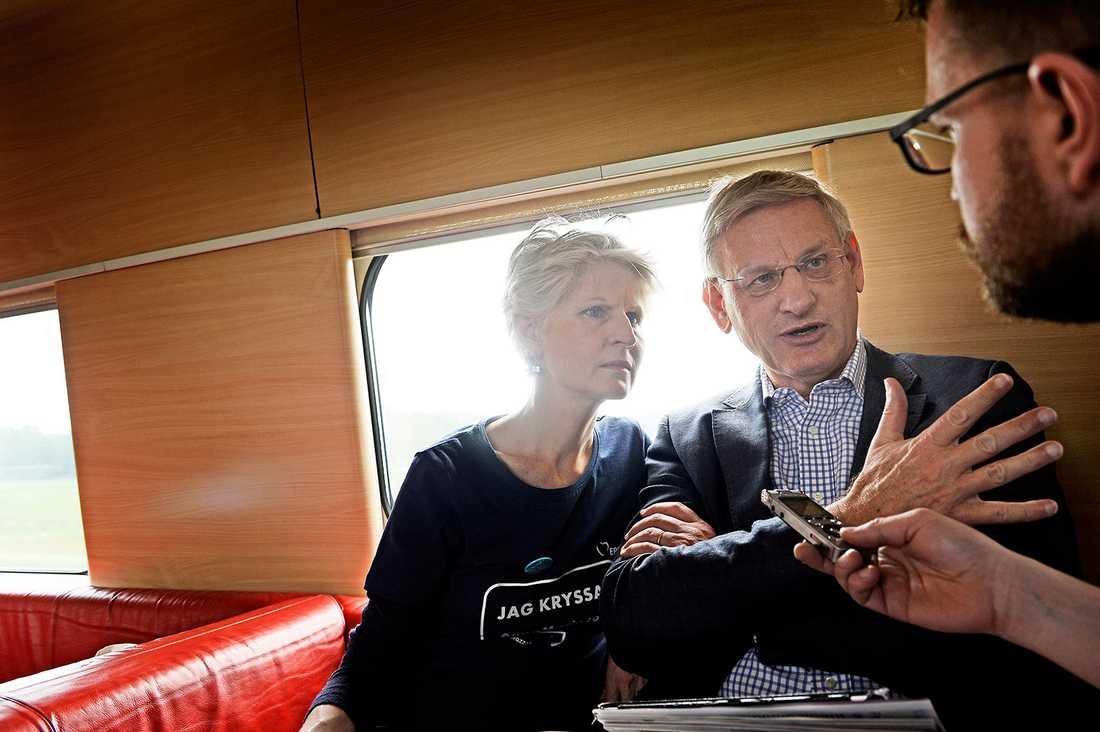Carl Bildt och Anna Maria Corazza Bildt. Arkivbild.