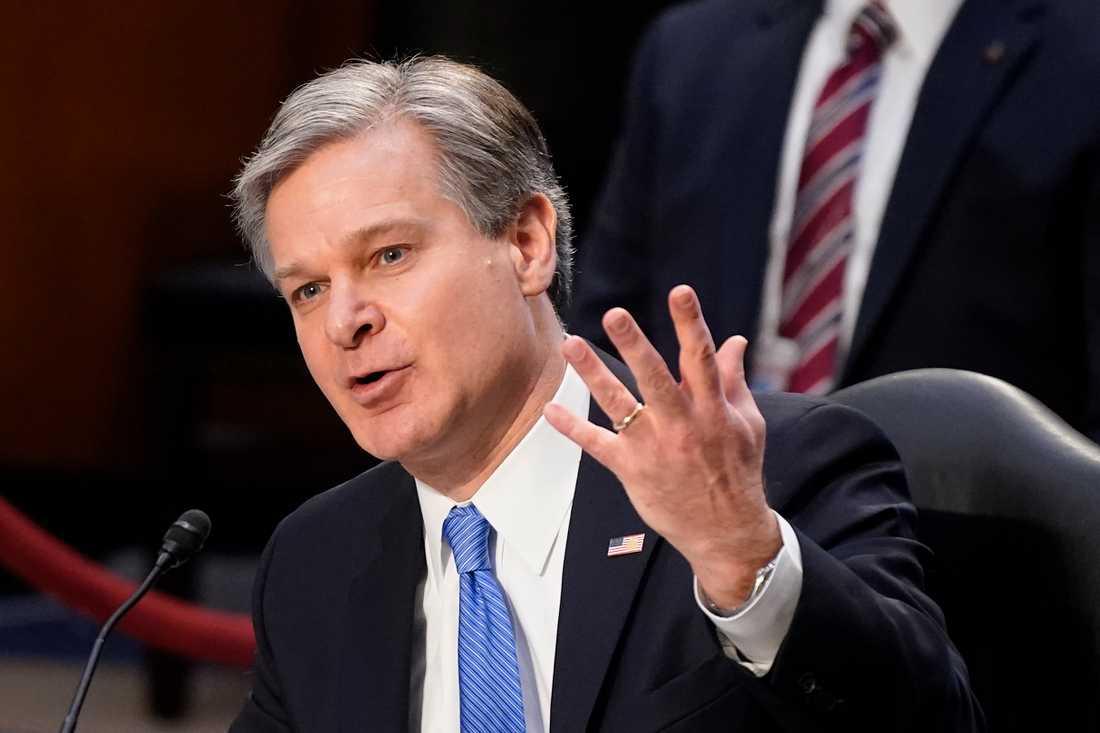 FBI-chefen Chris Wray vittnade inför senaten.