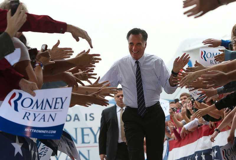 """Slutkörd valspurtare Det syntes på Mitt Romney när han tidigt i går morse inledde i Sanford, Florida, att han nog skulle ha behövt ytterligare några timmars sömn. Tur att budskapet sitter i ryggmärgen. """" Vi behöver nytt ledarskap i Washington"""", dundrade Romney. Efter Florida reste han vidare till Virginia, Ohio och New Hampshire. Foto"""