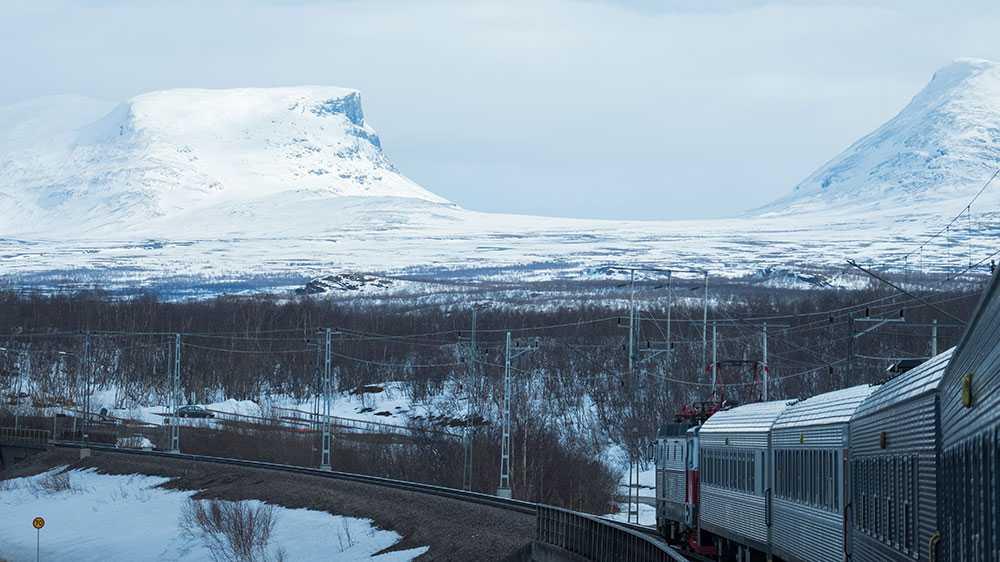 Sträckan mellan Kiruna och Narvik bjuder på fantastiska vyer.