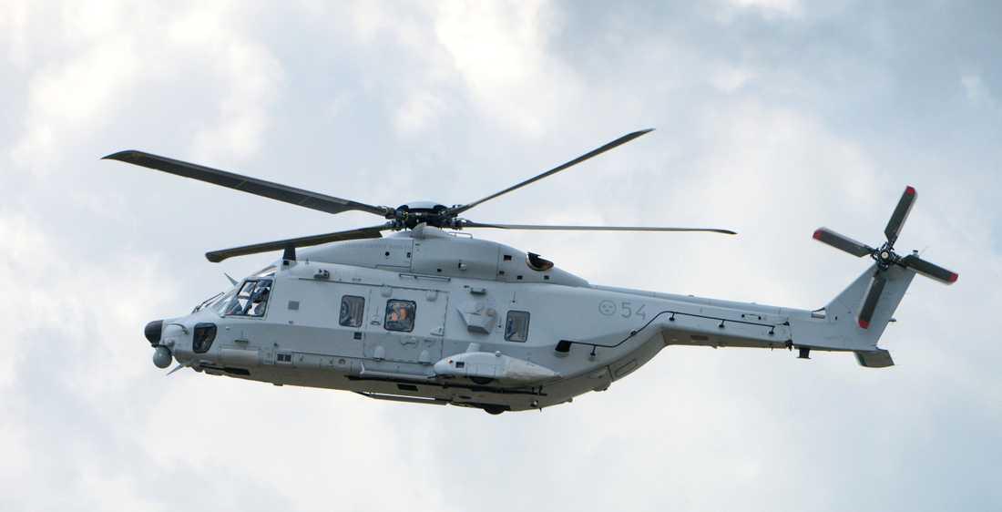 En Helikopter 14 ( HKP 14 ) vid F17 i Kallinge.