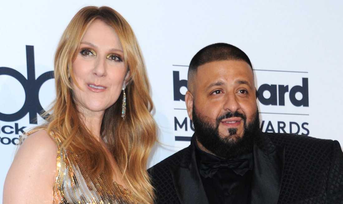 Dj Khaled och Celine Dion.