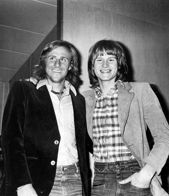 Ted Gärdestad med Björn Borg på 70-talet.