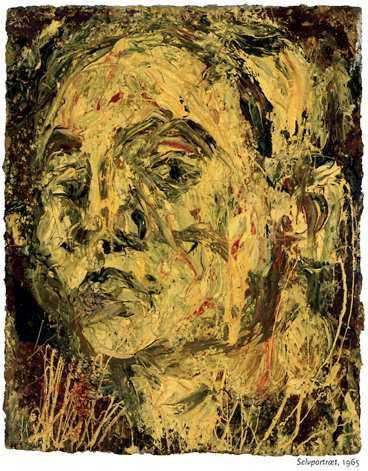 """Leon Kossoff: """"Självporträtt"""". (1965)"""