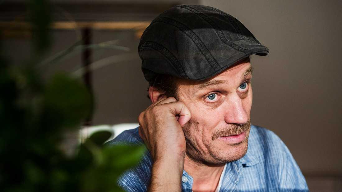 """Jens Hultén under inspelning av Viaplay-serien """"Ingen utan skuld""""."""