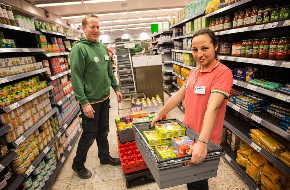 Roxana Iordache har fått praktikplats i Coop-butiken i Höllviken.