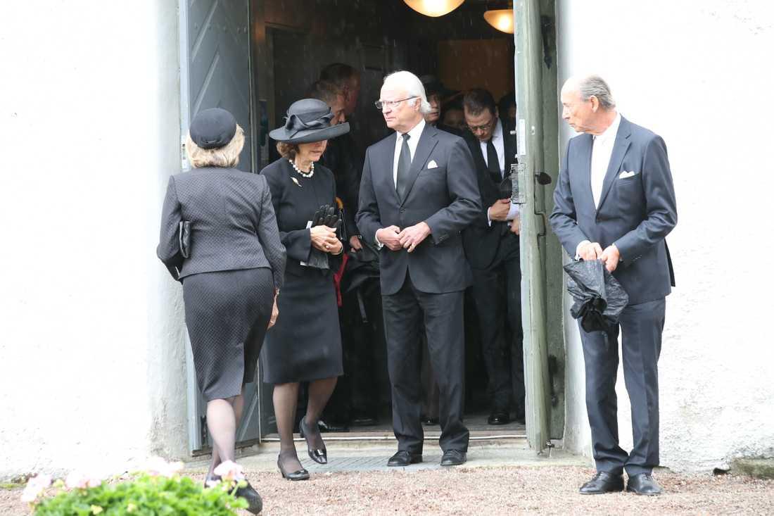 Kungen och drottningen.