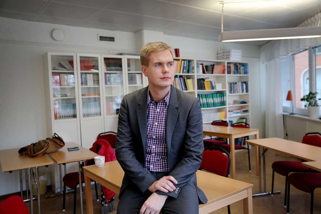 Gustav Fridolin Språkrör (MP), riksdagsledamot för Göinge, Österlen och Bjäre och folkhögskollärare