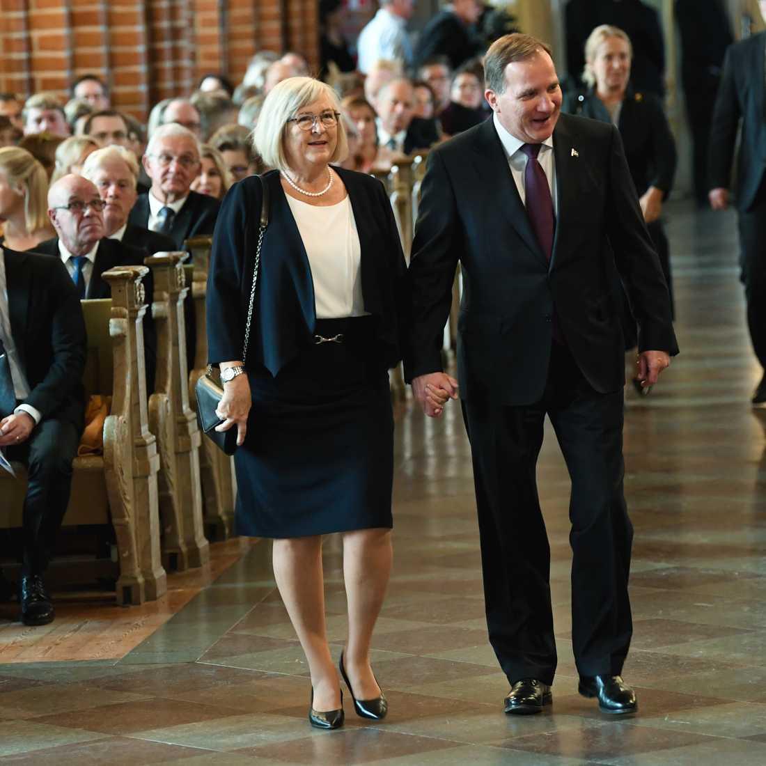 Statsminister Stefan Löfven (S) med frun Ulla Löfven.