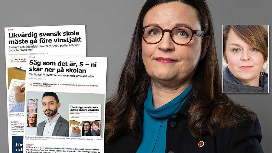 Socialdemokraternas politik är glasklar: Sverige måste åter sätta alla elevers rätt till kunskap framför skolmarknadens jakt på vinst. Men de högerkonservativa partierna säger som bekant nej till alla förslag som ökar jämlikheten. Slutreplik från Anna Ekström och Katrin Stjernfeldt Jammeh.