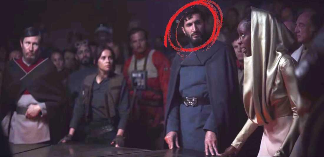 """Fares Fares i trailern för kommande filmen """"Rogue one: A star wars story""""."""