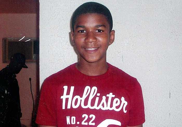 Skjutne tonåringen Trayvon Martin.