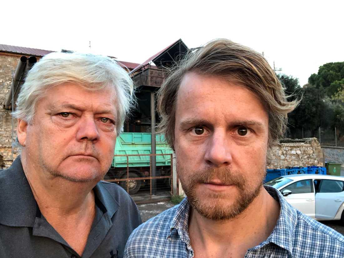 Aftonbladets Urban Andersson och Staffan Lindberg på plats på Lesbos.