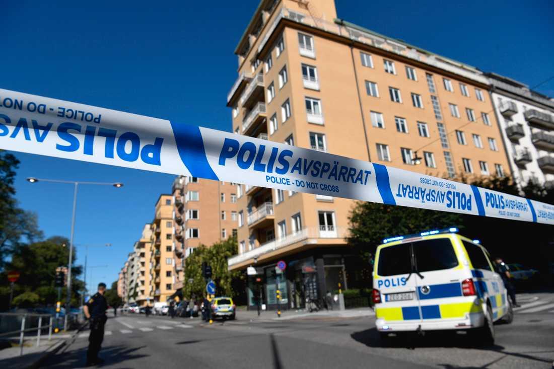 En man sköts på Kungsholmen i Stockholm i fredags. Arkivbild.