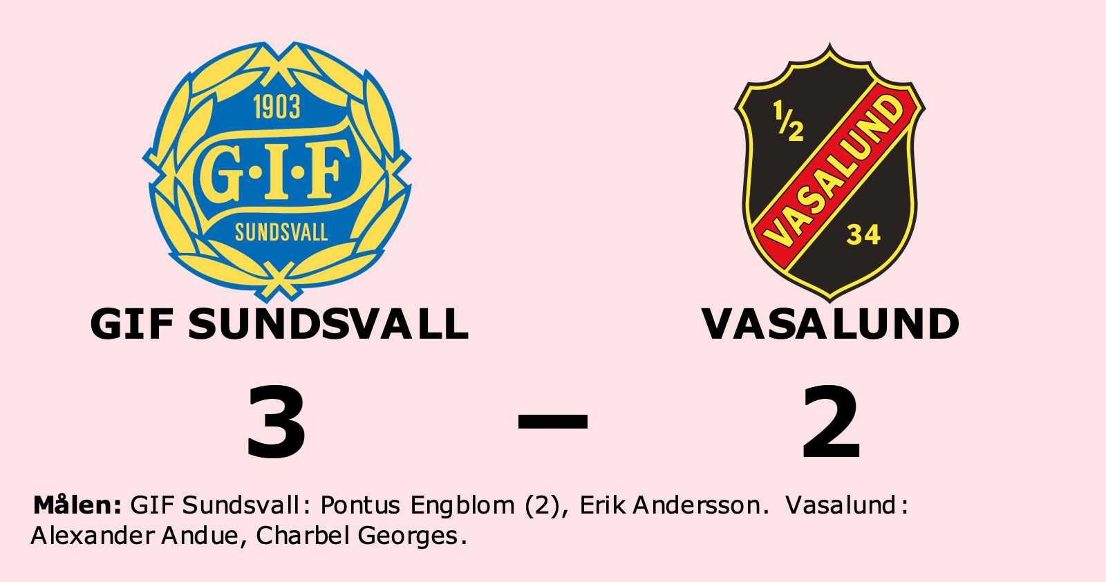 Förlust för Vasalund borta mot GIF Sundsvall
