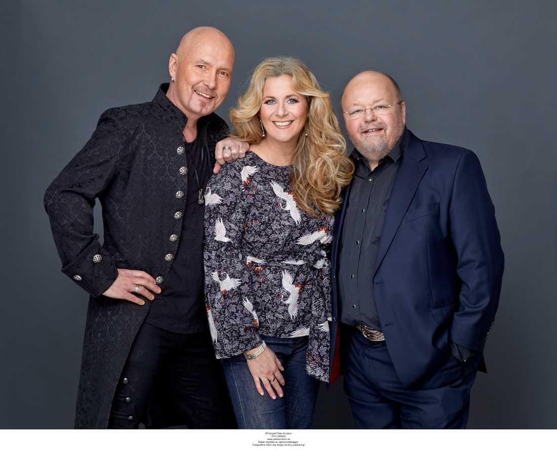Johan Boding, Gunilla Backman och Kalle Moraeus.