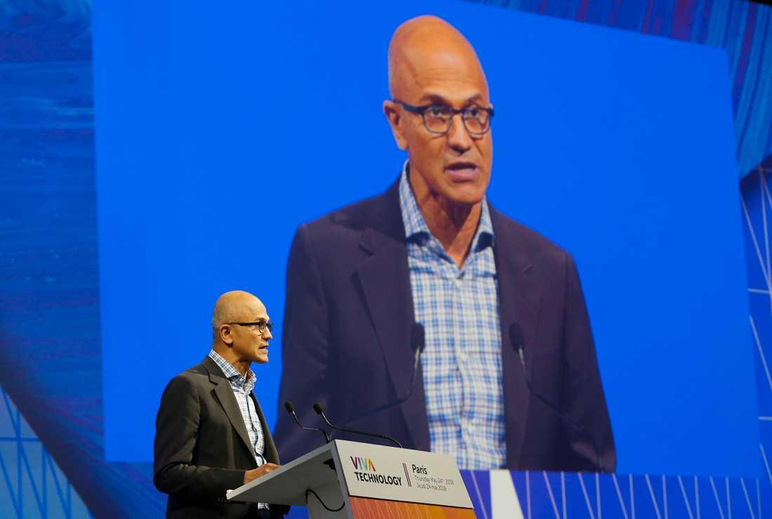 Microsoft vd Satya Nadella. Arkivbild