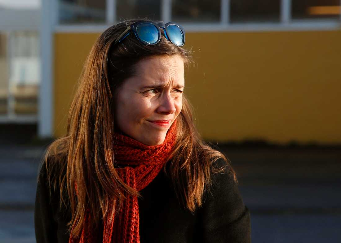 Islands statsminister Katrin Jakobsdottir presenterade lagen i alltinget i förra veckan. Arkivbild.