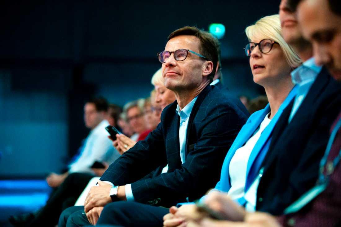 Partiledare Ulf Kristersson (M) på Moderaternas Sverigemöte i maj.