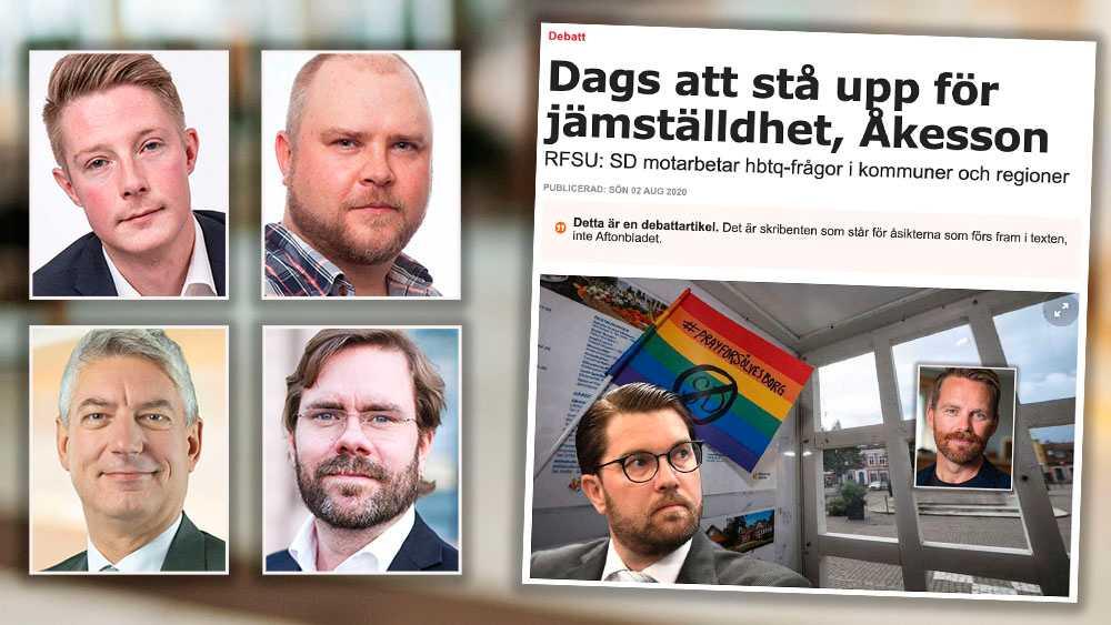 Sverigedemokraterna står upp för människors rätt att följa sina hjärtan. Varje år målas en falsk bild av vårt parti där media och organisationer tävlar om att måla ut oss som fiender nummer ett för jämställdhet och hbt-personer, skriver debattörerna.
