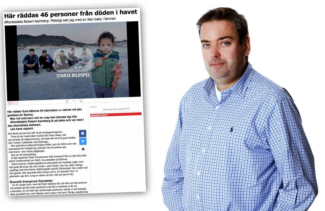 Magnus Ringman är projektledare för Gula båtarna.