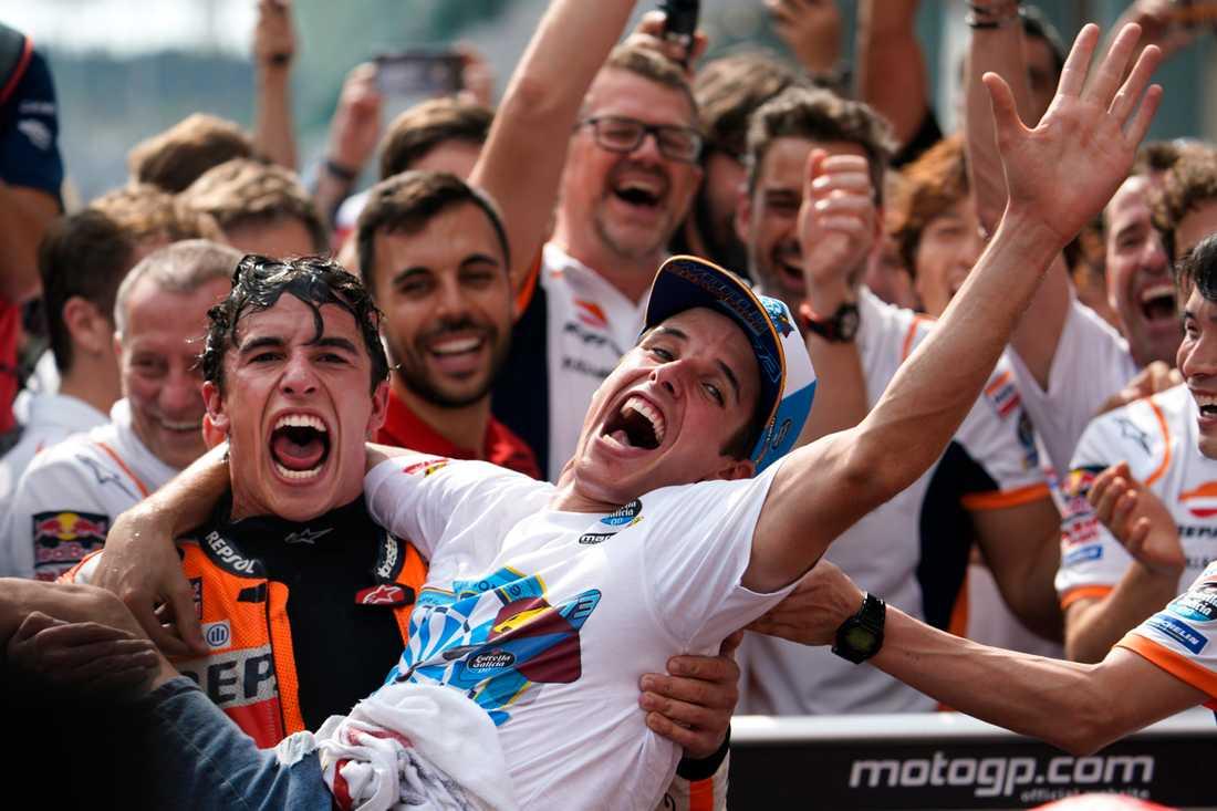 Marc och  Alex Marquez, båda världsmästare  i roadrcaing 2019 - och teamkollegor hos Honda 2020