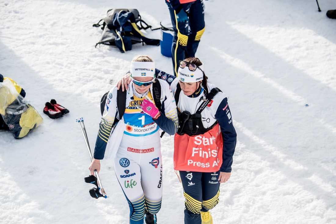 Maja Dahlqvist i tårar efter sprintfinalen 2019.