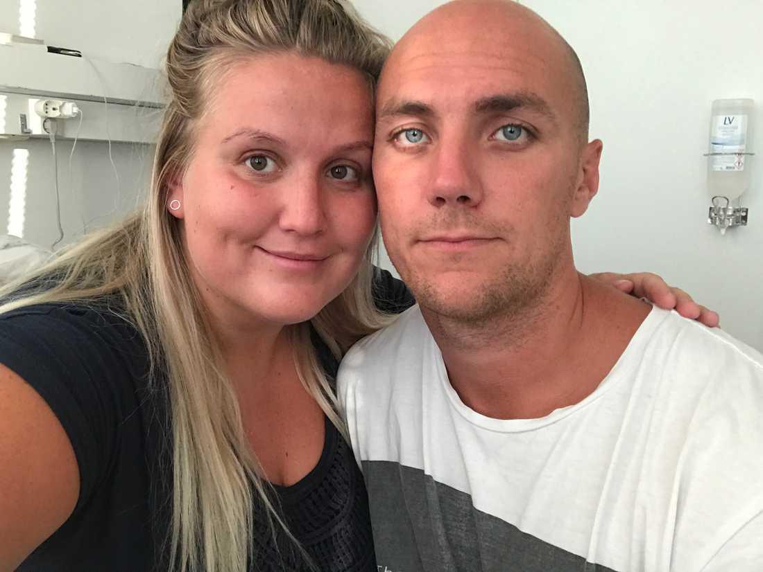 Wiktora Ahlin och sambon Linus Saari