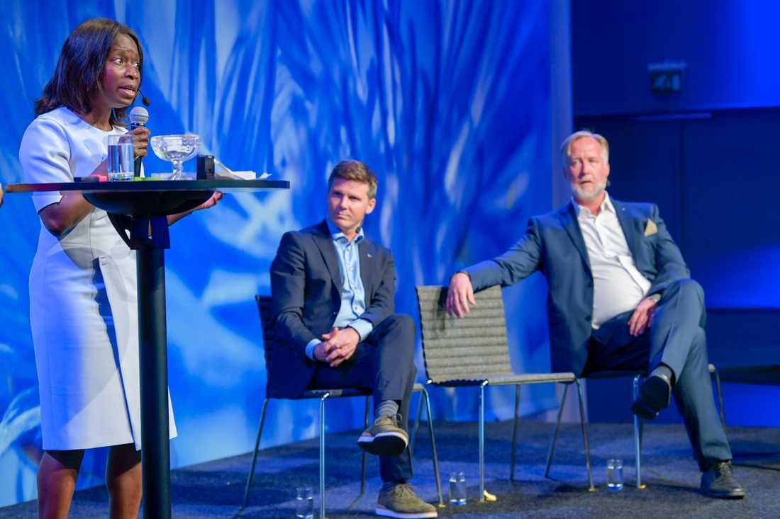 Nyamko Sabuni, Erik Ullenhag och Johan Pehrson konkurrerar om att bli Liberalernas nästa partiledare. Arkivbild.