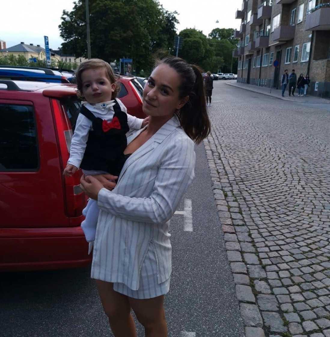 Elsa med sin mamma Lode.