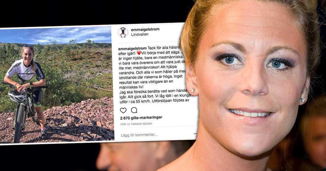 Emma Igelström berättar utförligt själv om sitt livräddningsdrama på Cykelvasan i helgen.