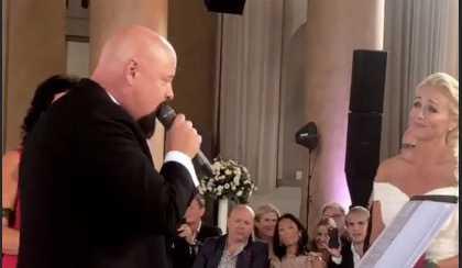 Anders Bagge sjöng för sin nya fru.