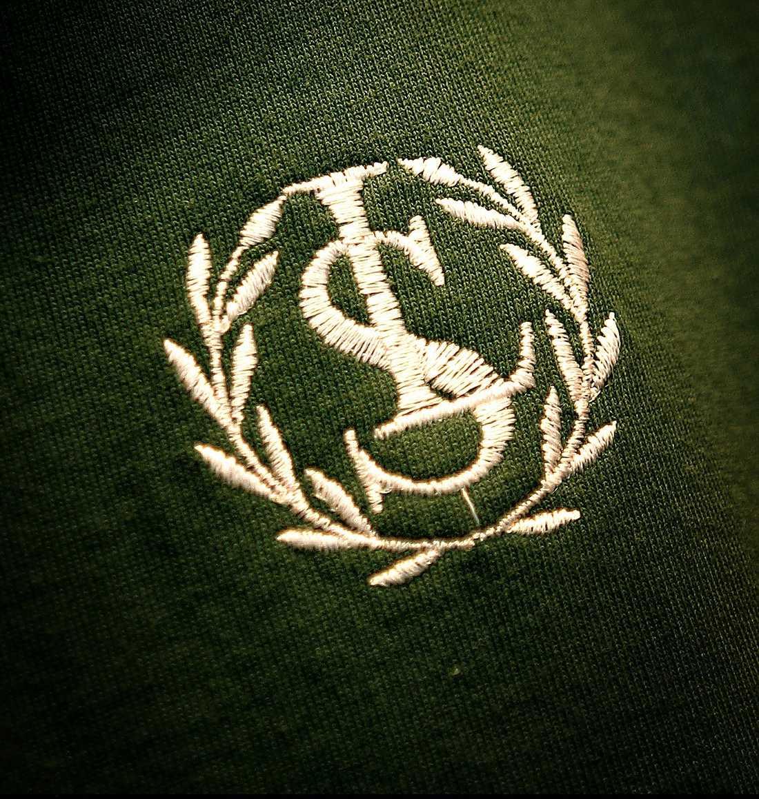 """PENNALISM Lundsbergs emblem, den moderna bilden av """"kamratuppfostran""""."""