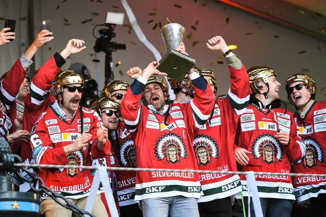 Frölunda firar SM-guldet 2019.