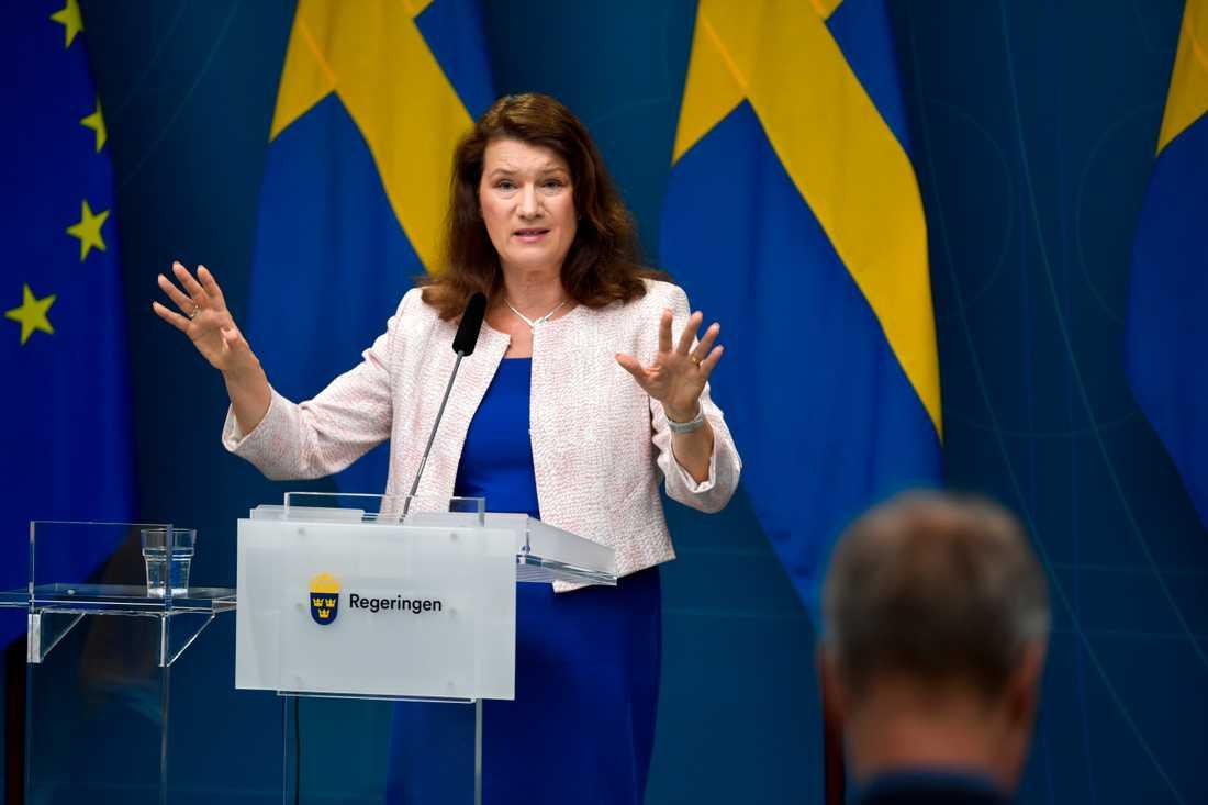 Utrikesminister Ann Linde (S). Arkiv