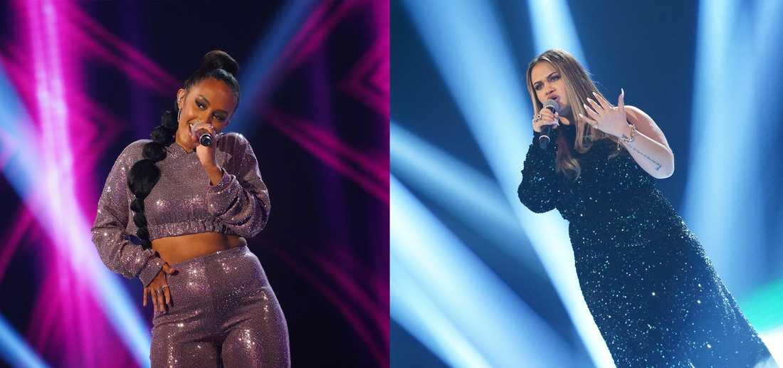 """Nadja Holm och Paulina Pancenkov är finalister i TV4:s """"Idol"""". Pressbild."""